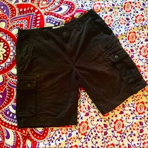 🔴👣 Black Arizona Jeans brand cargo shorts Sz 38
